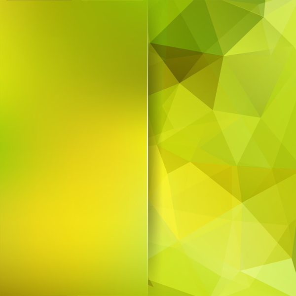Green with yellow polygon background vector 04
