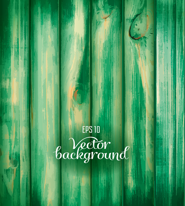 Green wooden texture background vector