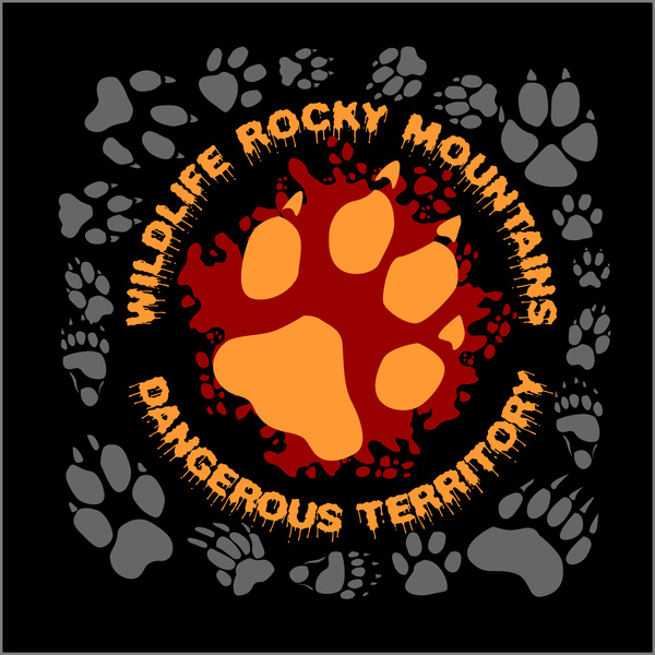 Grizzle bear tracks background vector