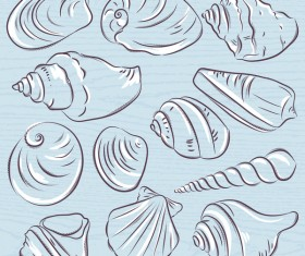 Hand drawn sea elements vector 03