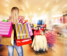 Hands carrying shopping bags shopping woman Stock Photo