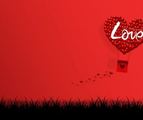 Happy Valentines Day Greeting card with origami vector 05