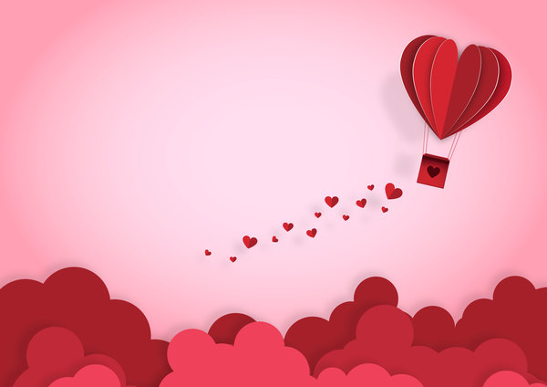Happy Valentines Day Greeting card with origami vector 11