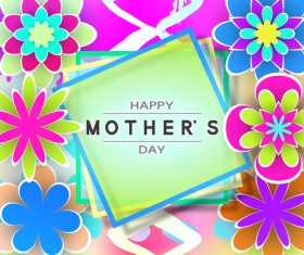 Happy mother day flower cards vectors set 09