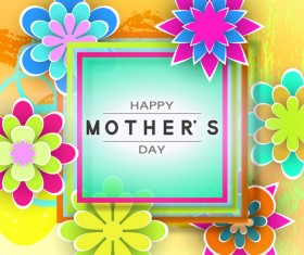 Happy mother day flower cards vectors set 11
