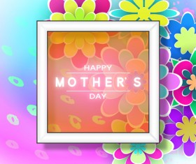 Happy mother day flower cards vectors set 12