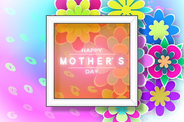 Happy mother day flower cards vectors set 12