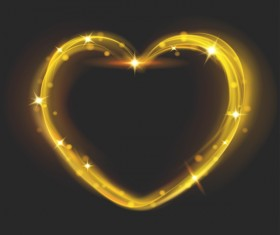 Heart shape light effects illustration vector 02