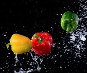 High Speed Lens Vegetable Splash Water HD picture 04