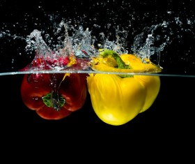 High Speed Lens Vegetable Splash Water HD picture 05