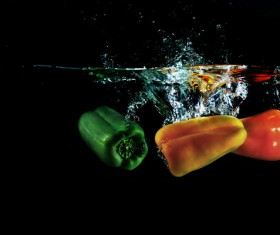 High Speed Lens Vegetable Splash Water HD picture 06