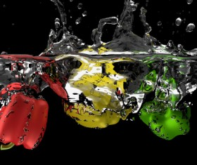 High Speed Lens Vegetable Splash Water HD picture 07