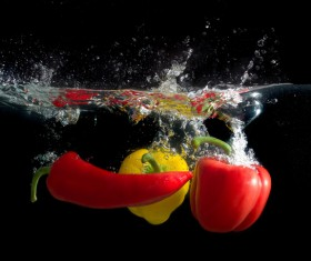 High Speed Lens Vegetable Splash Water HD picture 08