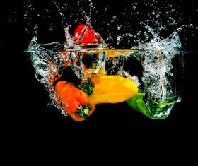 High Speed Lens Vegetable Splash Water HD picture 10