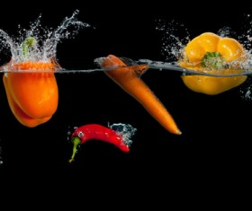 High Speed Lens Vegetable Splash Water HD picture 11