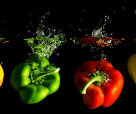 High Speed Lens Vegetable Splash Water HD picture 12