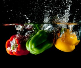 High Speed Lens Vegetable Splash Water HD picture 13