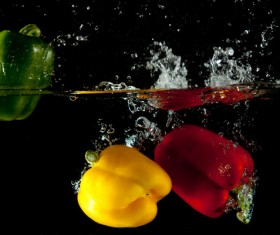 High Speed Lens Vegetable Splash Water HD picture 14