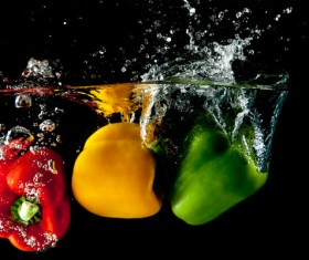 High Speed Lens Vegetable Splash Water HD picture 15