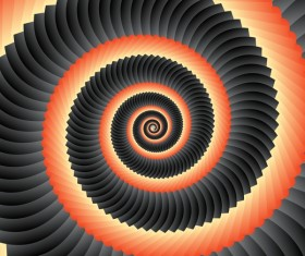 Infinity spiral abstract paper background vector 03