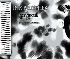 Ink photoshop brushes set