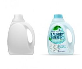 Laundry detergent barrels vector material