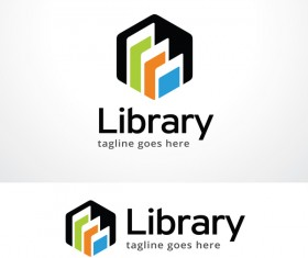 Library logo design vector