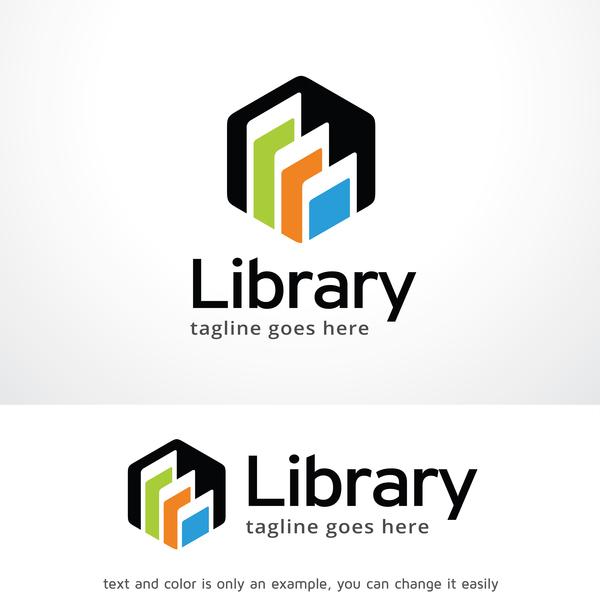 Download Library logo design vector free download