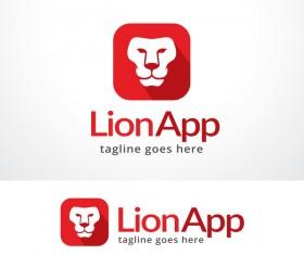 Lion App logo vector material