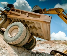 Loaders and dumpers Stock Photo