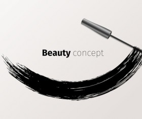 Mascara brushes with vector background material 02