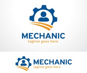 Mechanic logo vector material