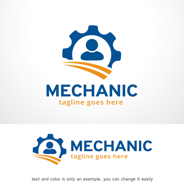 Mechanic logo vector material