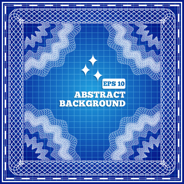Mesh pattern with blue background design vector 03