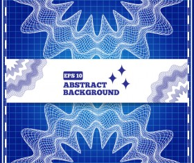 Mesh pattern with blue background design vector 05