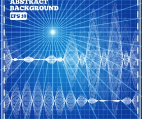 Mesh pattern with blue background design vector 06