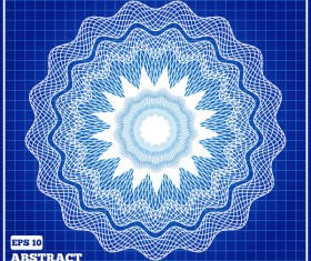Mesh pattern with blue background design vector 07
