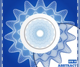 Mesh pattern with blue background design vector 08