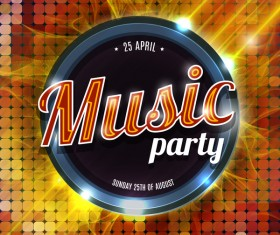 Music party flyer template modern design vector 01