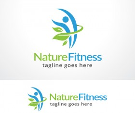 Nature Fitness vector logo