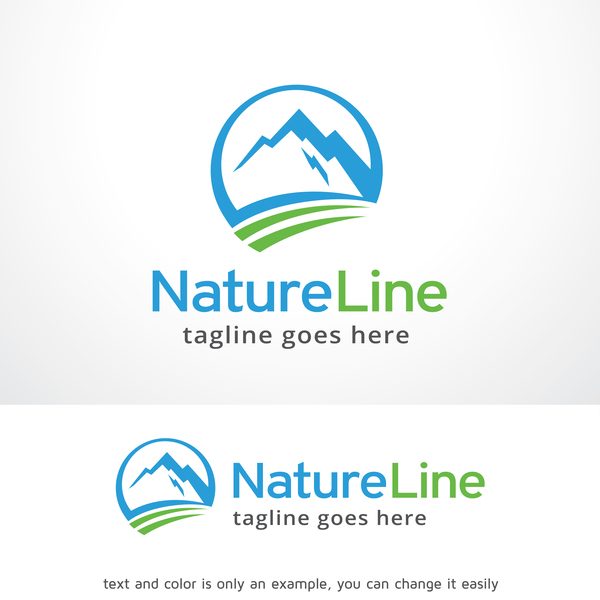 Nature Line vector logo