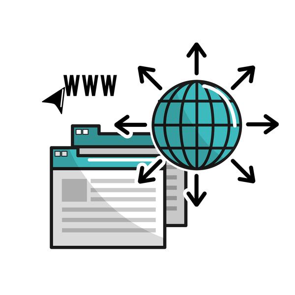 Network internet business template vector design 08