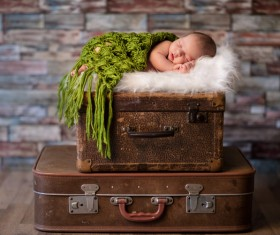 Newborn baby peacefully sleeping HD picture 02