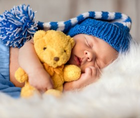 Newborn baby peacefully sleeping HD picture 03