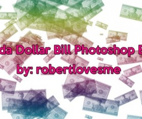 Okada Dollar Bill Photoshop Brushes