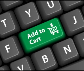 Online shopping with keyboard background vectors 11