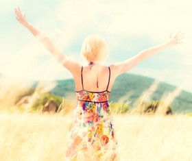 Open arms of the girl HD picture