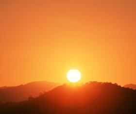 Peak sunset beauty Stock Photo