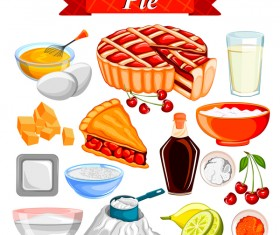 Pie food vector material