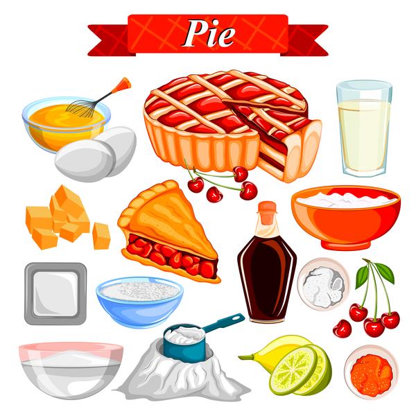 Pie food vector material